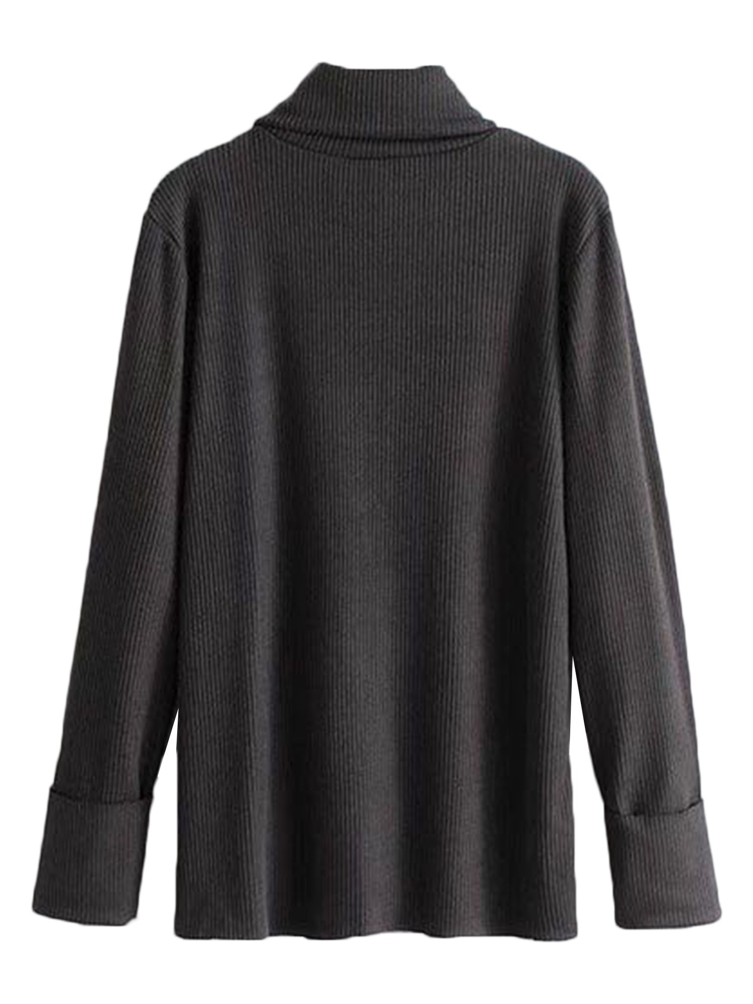 'Michelle' Black Turtleneck Pocket Sweater