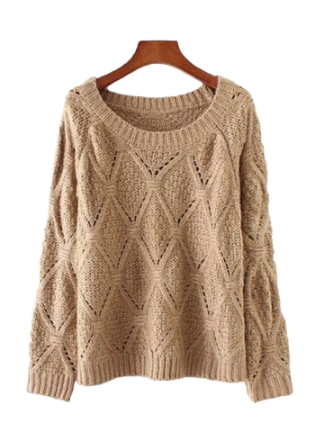 'Tessa' Net Tied Sweater by Champagne & Chanel