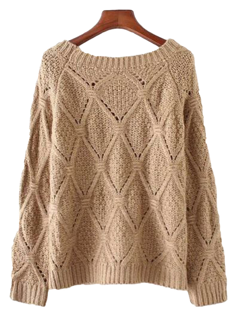 'Livvy' Eyelet Knitted Sweater (2 Colors) by Champagne & Chanel