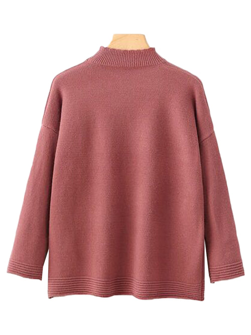 'Norika' High-neck Soft Sweater (3 Colors)