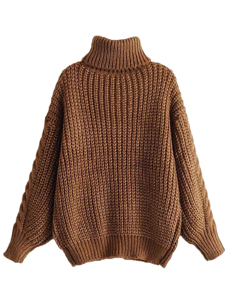 'Maddie' Turtleneck Cable-knit Sweater by Champagne & Chanel ( 3 Colors )