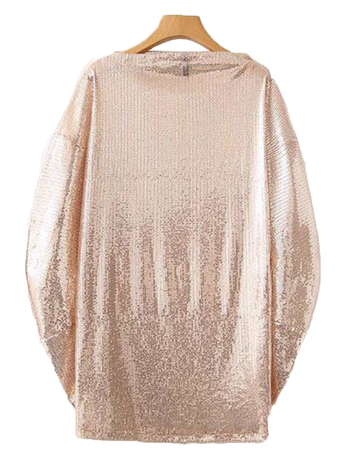 'Pansy' Rose Gold Sequin Top