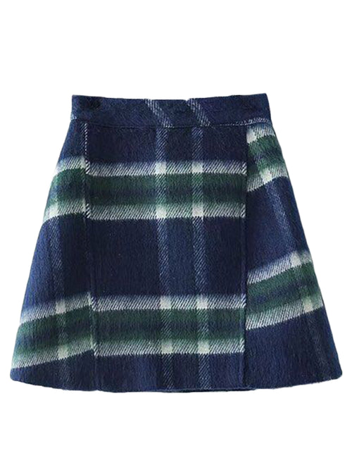 'Petty' Plaid Mini Skirt