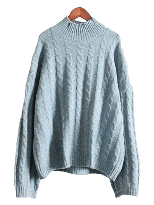 'Stella' Cable-knit Sweater (2 Colors)