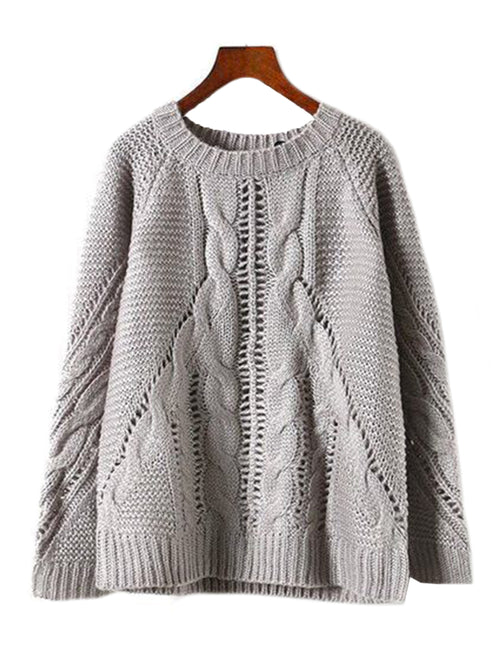 'Jayla' Cable-knit Sweater (2 Colors)