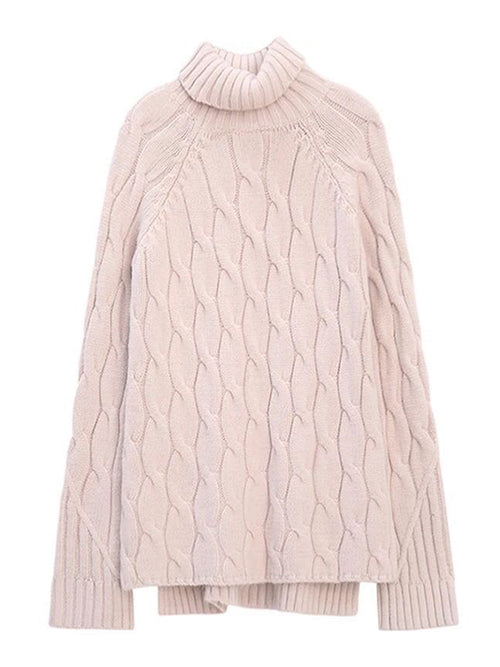'Brulee' Turtleneck Knitted Sweater by Champagne & Chanel
