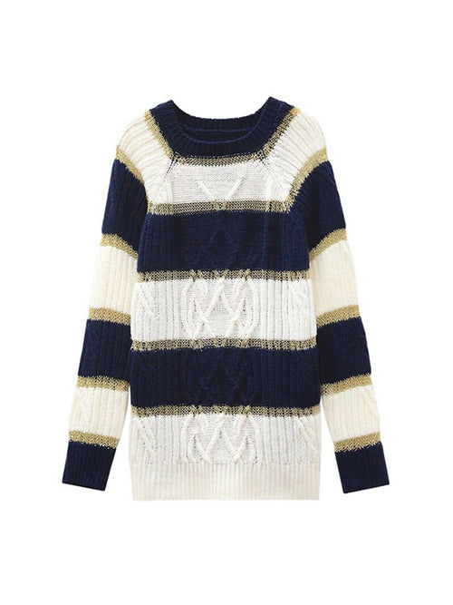 'Leanne' Glitter Striped Sweater