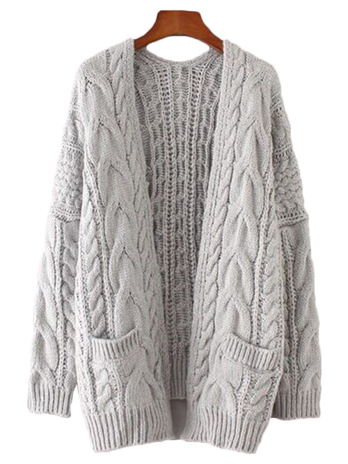 'Katie' Knitted Pocket Cardigan (2 Colors)