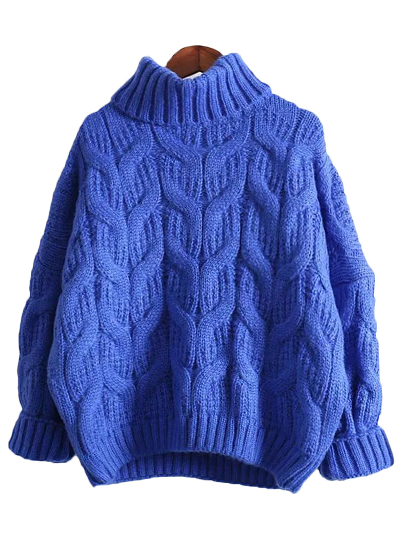 'Denise' Turtleneck Knitted Sweater ( 2 Colors )