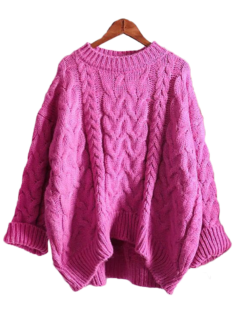 'Katelyn' Crewneck Knitted Sweater (4 Colors)