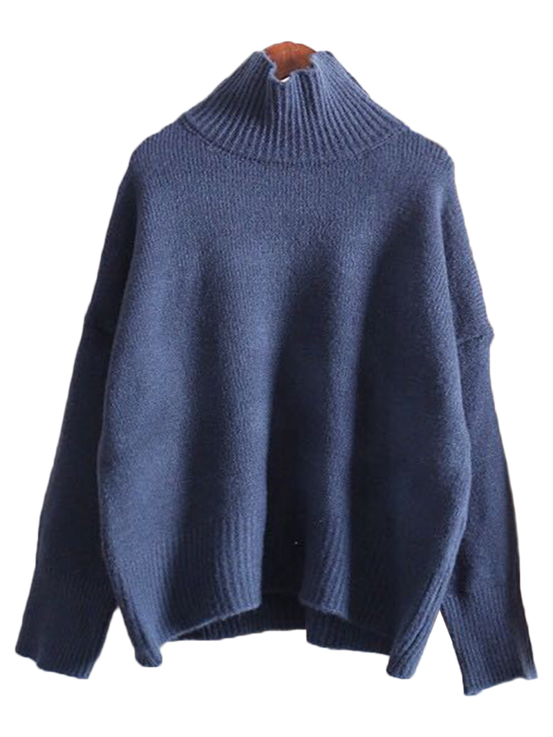 'Madeline' High-neck Soft Sweater (3 Colors)