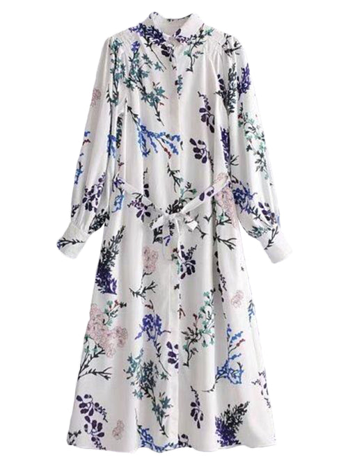 'Trudy' Floral Belted Dress