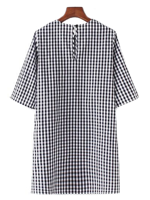 'Vicky' Gingham Tied Dress