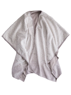'Sascha' Chevron Pattern Double Sided Poncho