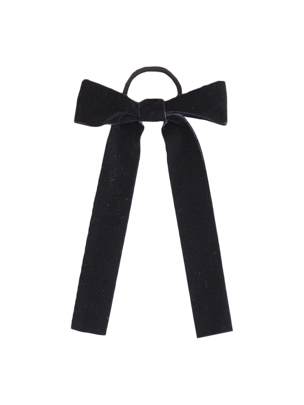 'Priscilla' Black Bow Hair Tie