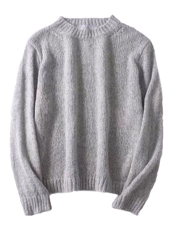 'Louise' Crewneck Lightweight Sweater (2 Colors)