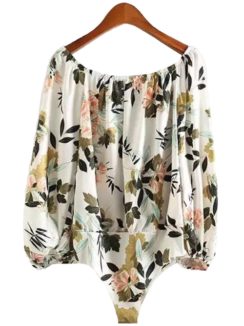 'Mia' Floral Off Shoulder Top