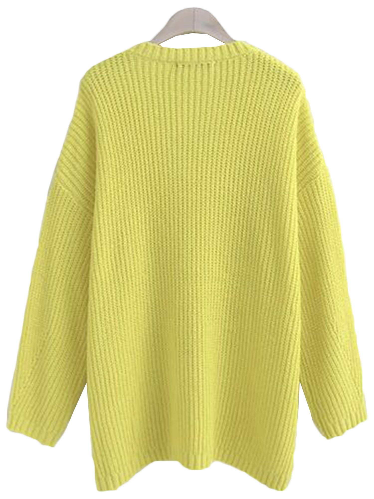 'Linda' Yellow V-neck Sweater