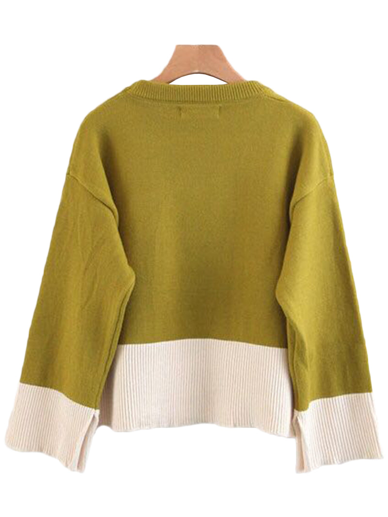 'Jean' Crewneck Color Block Sweater (2 Colors)