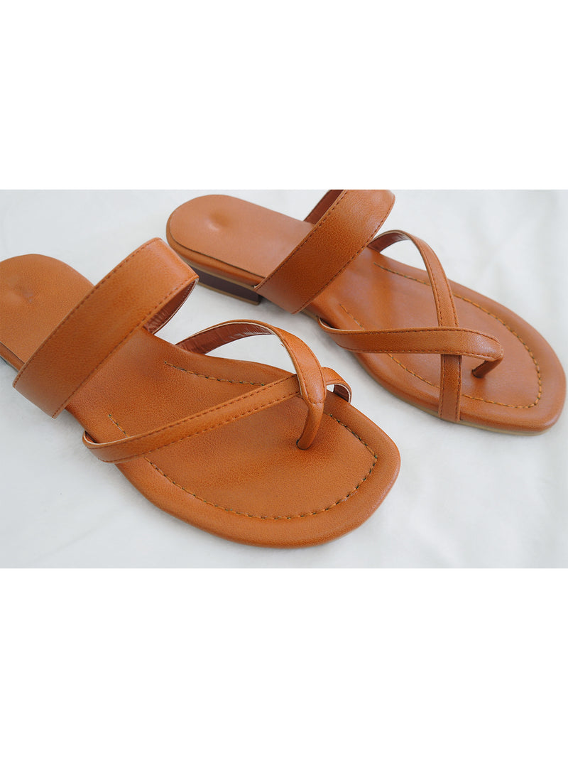'Rikki' Cross Strap Slides