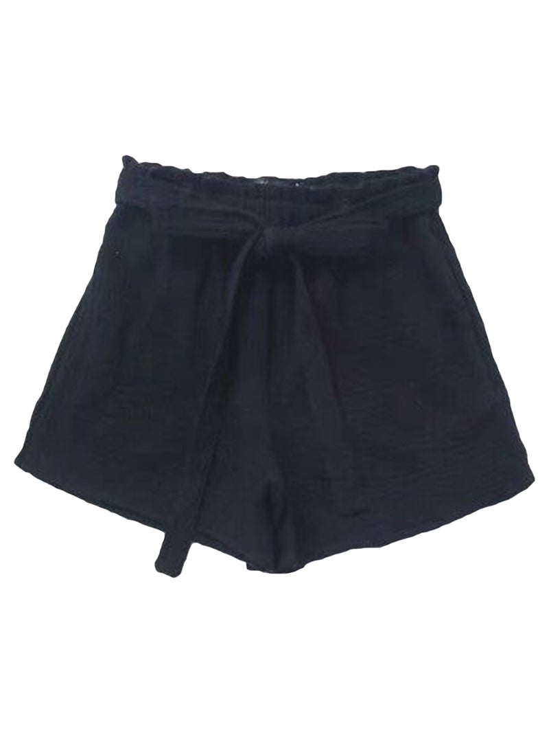 'Averie' Belted Cotton Linen Shorts by Champagne & Chanel (3 Colors)