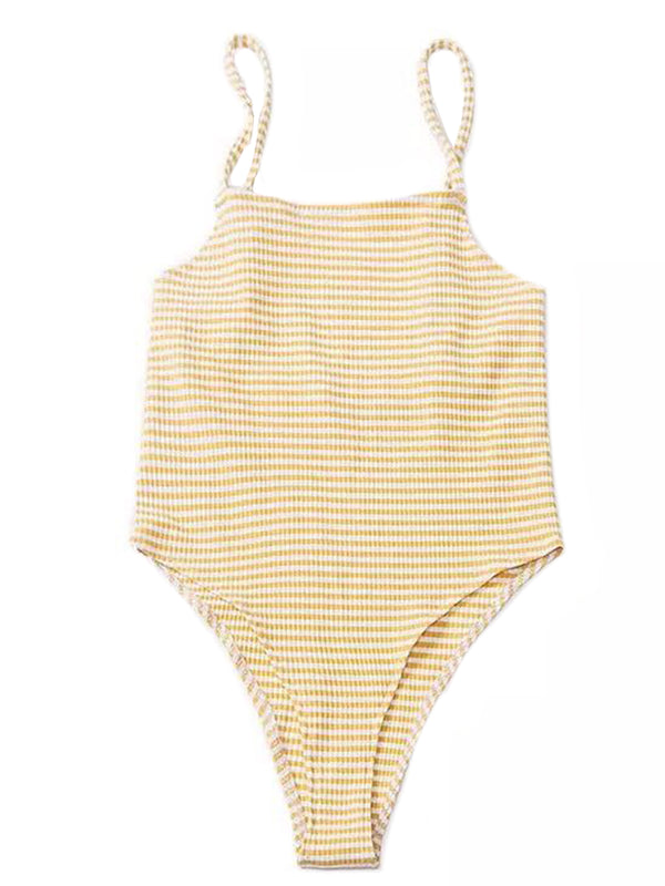 'Paisley' Thin-striped Bodysuit (2 Colors)