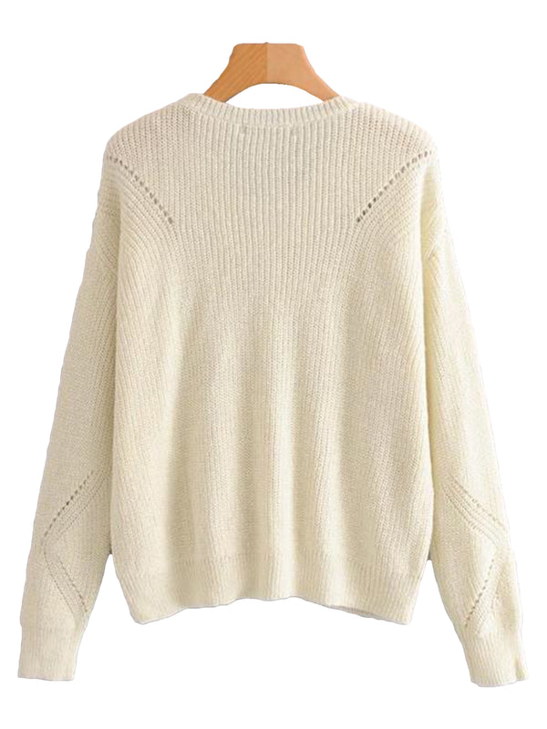 Goodnight Macaroon 'Jess' Rib-Knitted Lace-Up Sweater Back