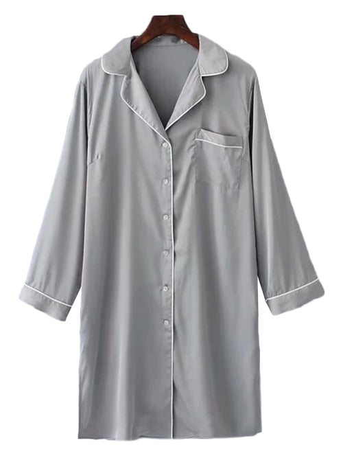 'Jobina' Silky Night Shirt (2 Colors)