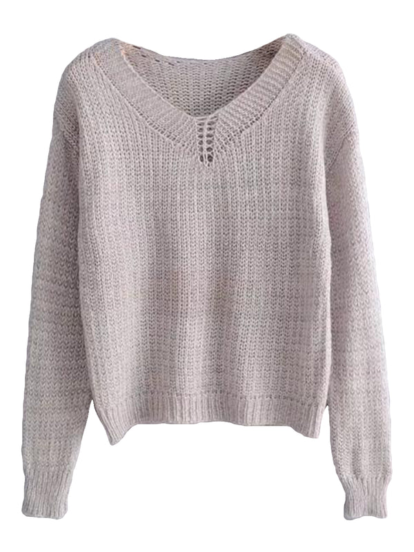 'Sonia' Lightweight Loose Knit Sweater (2 Colors)