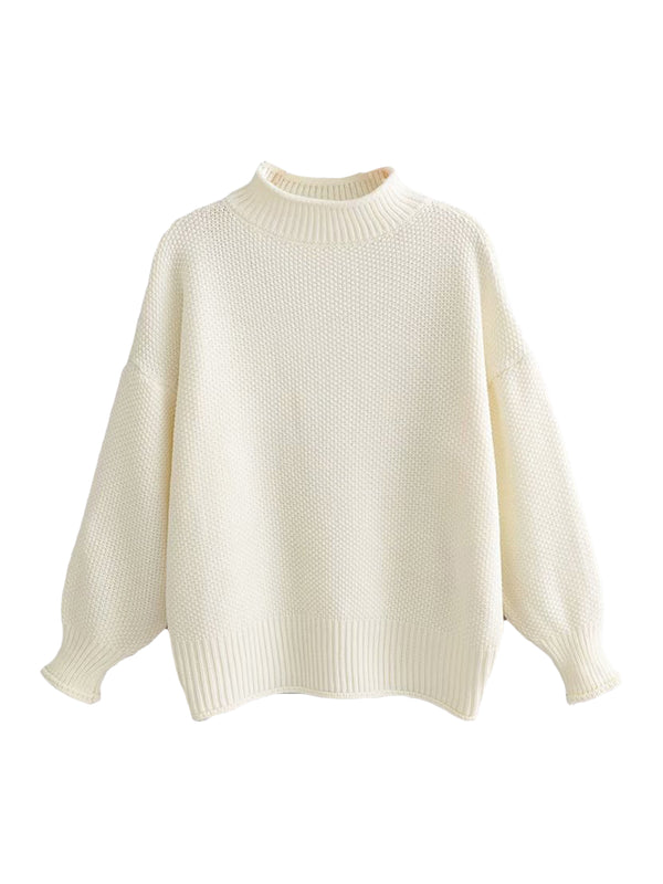 'Arby' Rolled Edge Oversized Sweater (3 Colors)