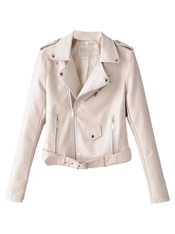 'Sugar' Faux Leather Biker Jacket (2 Colors)