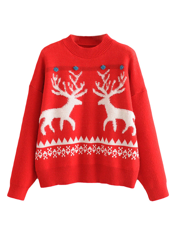 'Deer' Christmas Pattern Sweater (2 Colors)