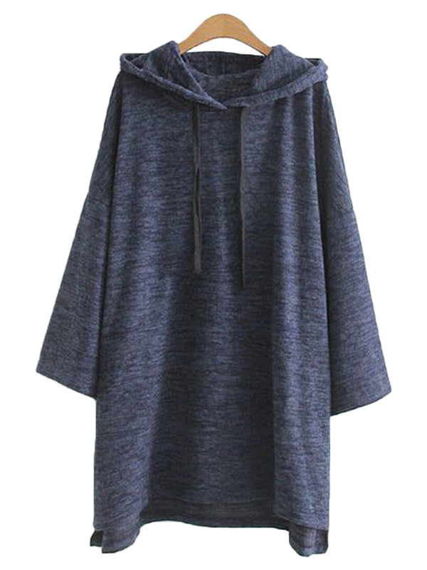 'Lyssa' Marl Hoodie Dress (2 Colors)