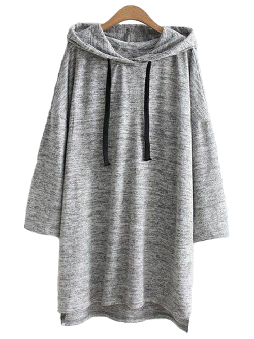 'Lyssa' Marl Hoodie Tunic Dress (2 Colors)