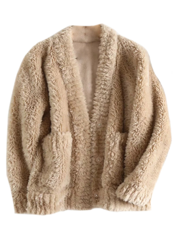 'Katy' Fluffy Furry Jacket (2 Colors)
