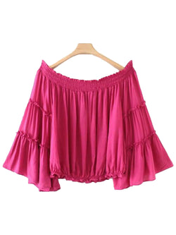 'Verena' Off Shoulder Frilled Top (3 Colors)