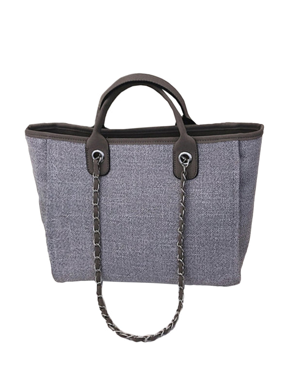 'Iris' Chain Strap Tote Bag (2 Colors)