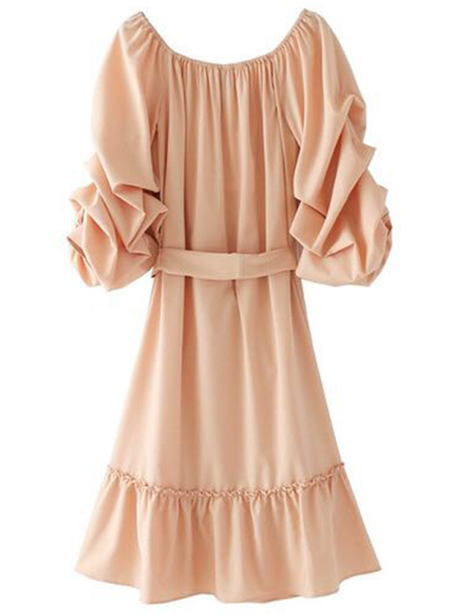 'Katarina' Ruffle Sleeve Peplum Dress