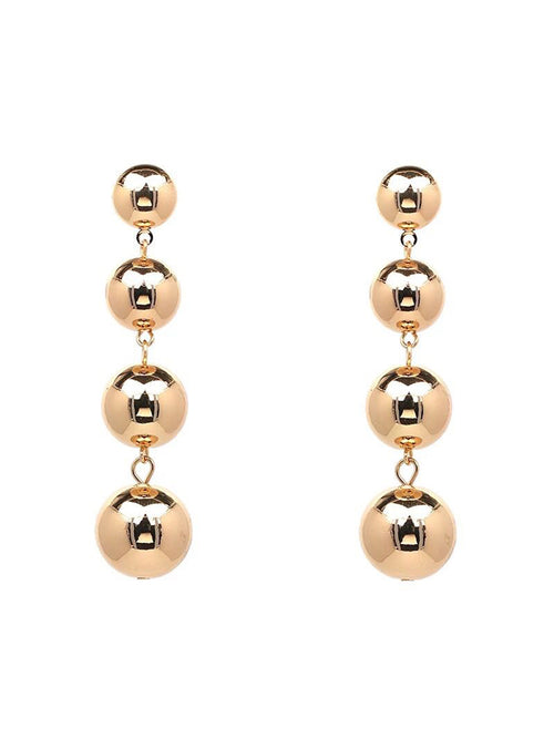 'Wendie' Round Metal Drop Earrings