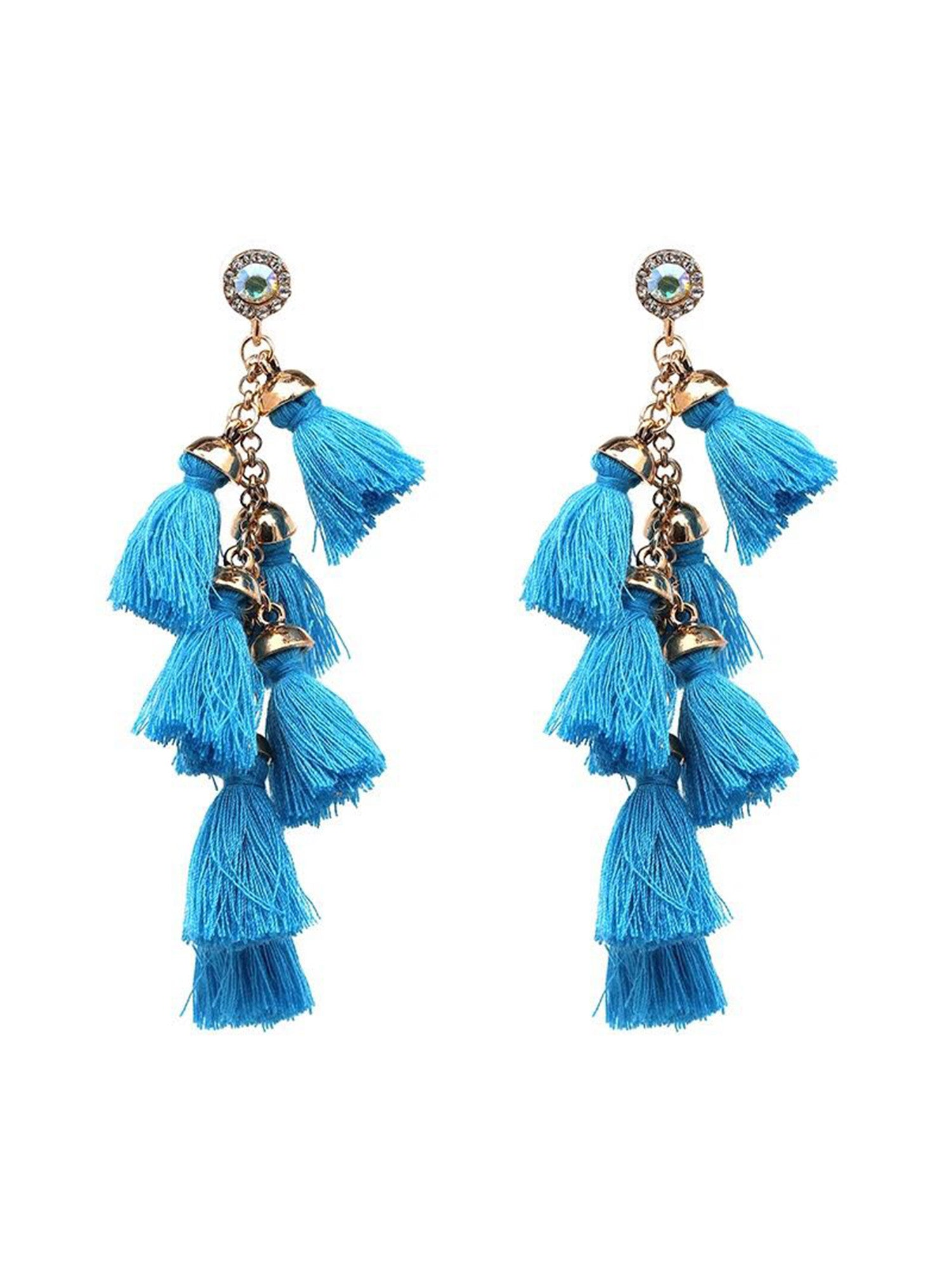 'Clarinda' Mini Tassels Drop Earrings