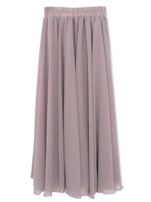 'Cathy' Chiffon Flare Long Skirt