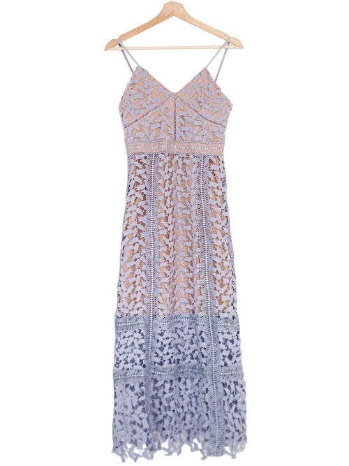 'Mendy' Lace Crochet Cami Maxi Dress