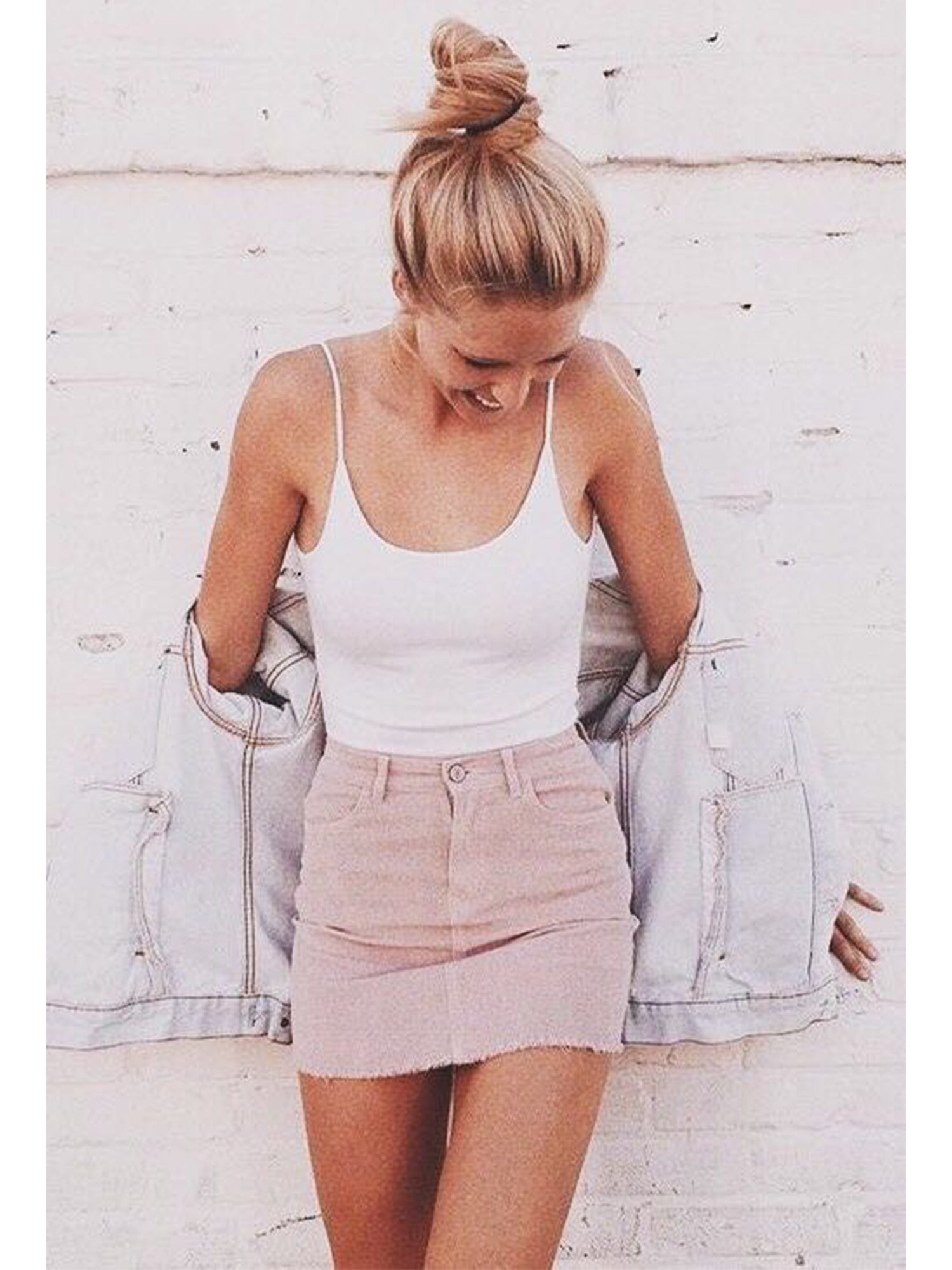 'Whitney' Pocket Corduroy Skirt