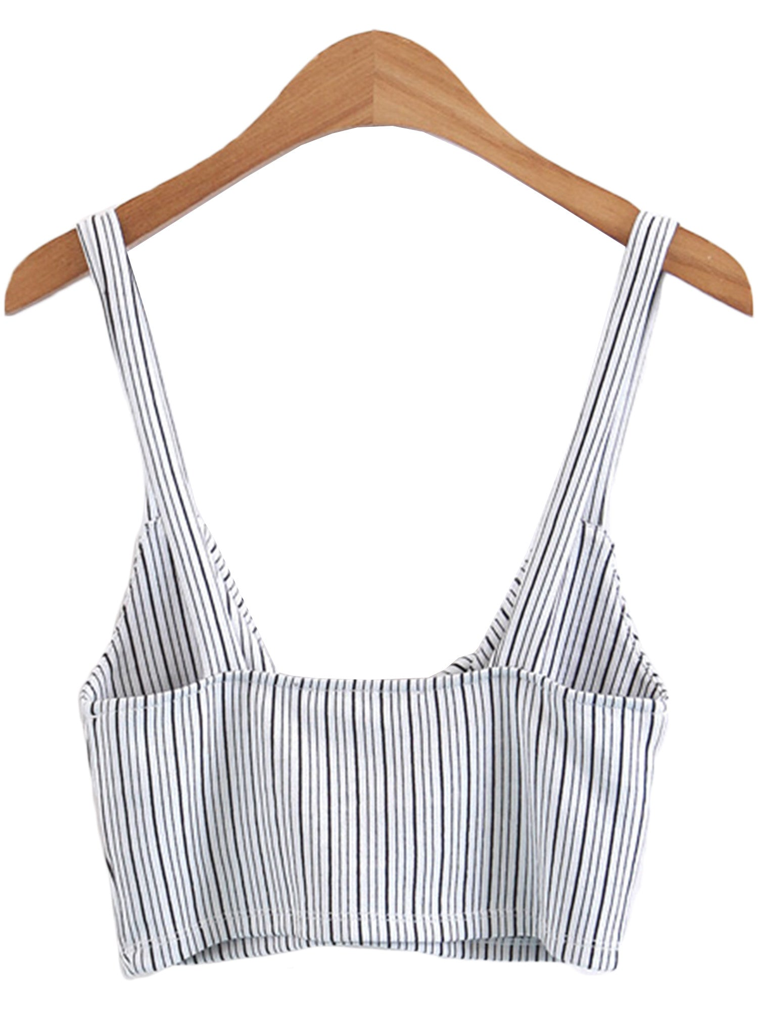'Layne' Front Tied Striped Crop Top