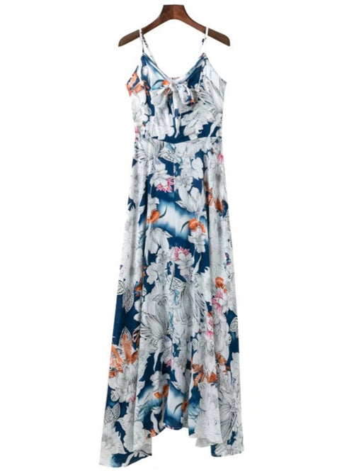 'Ramona' Floral Cami Maxi Flare Dress