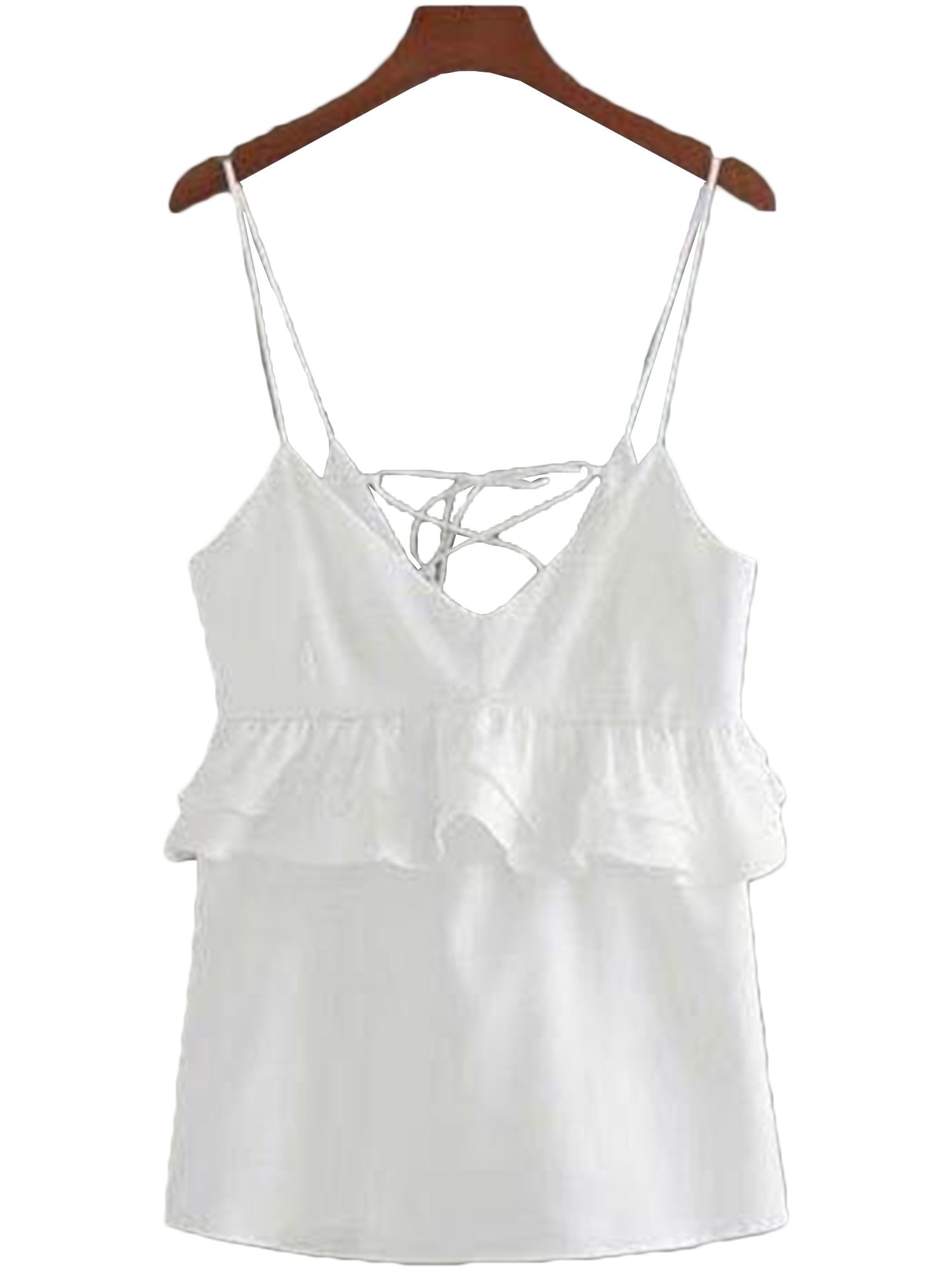 'London' Criss Cross Frill Cami Top