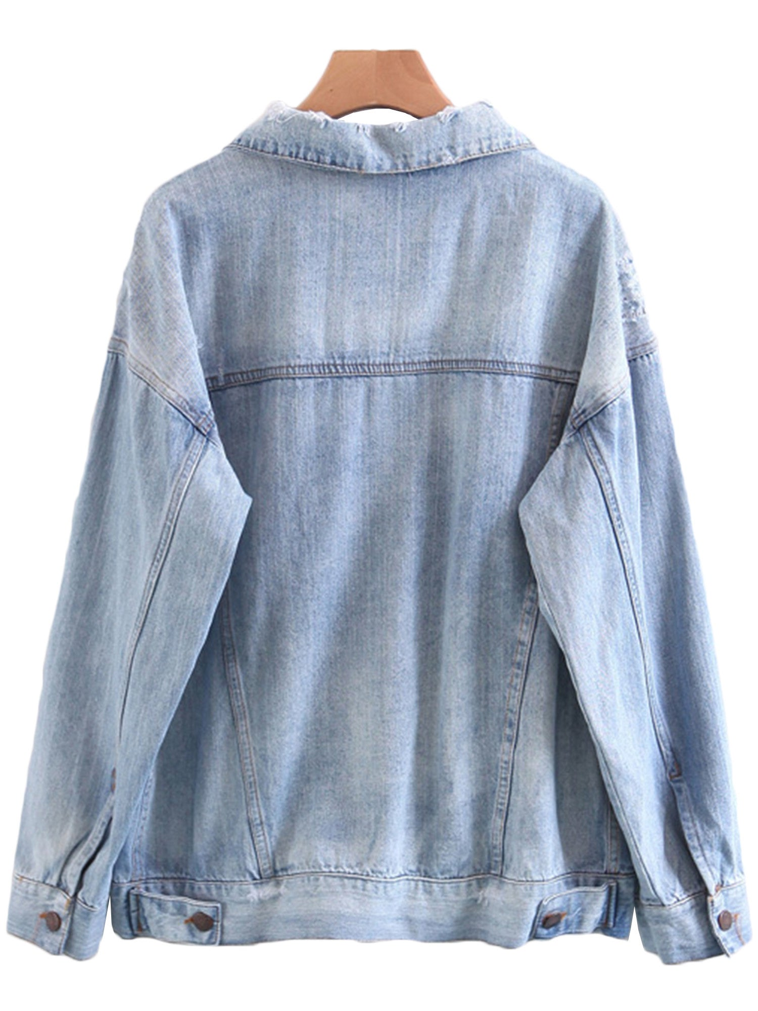 'Lupe' Washed Denim Jacket