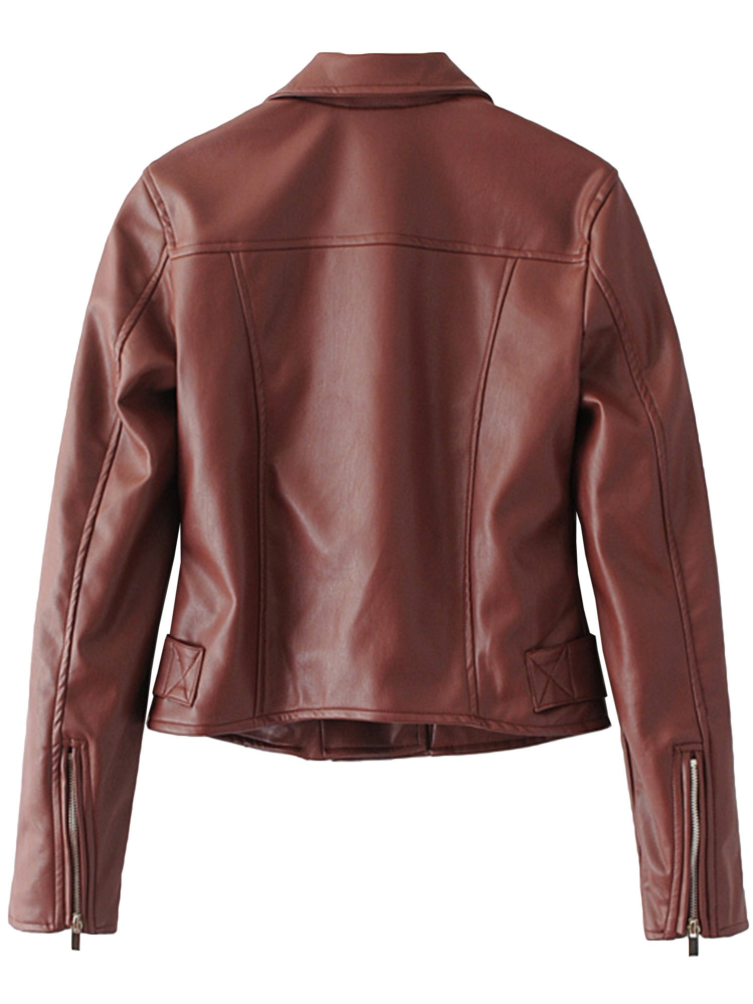 'Elanor' Zip Up Faux Leather Jacket (2 Colors Available)