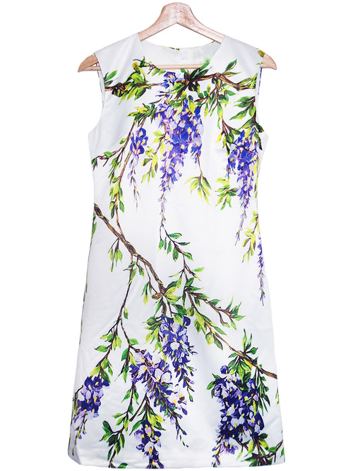 'Kandi' Floral Satin Sleeveless Dress