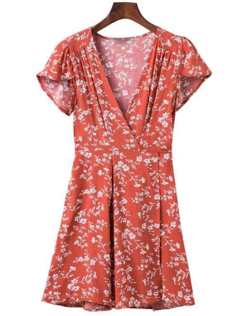 'Marley' Wrap Floral Flare Dress